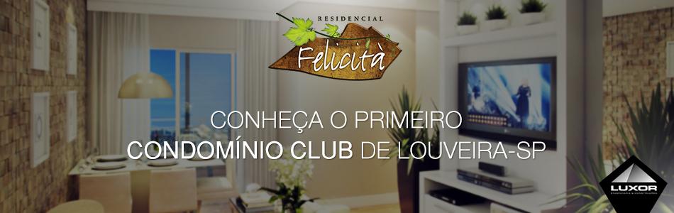 O FELICITÁ é o 1º e único empreendimento vertical de alto padrão de Louveira, trazendo o conceito de condomínio clube.