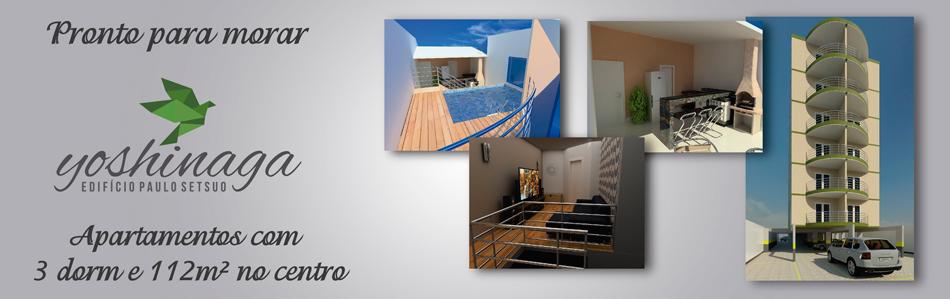 Apartamentos com  3 dorm e 112m² no Centro de Pindamonhangaba