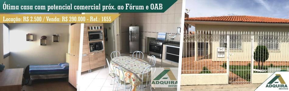 Opção de imóvel próximo ao Fórum, OAB, Condor.