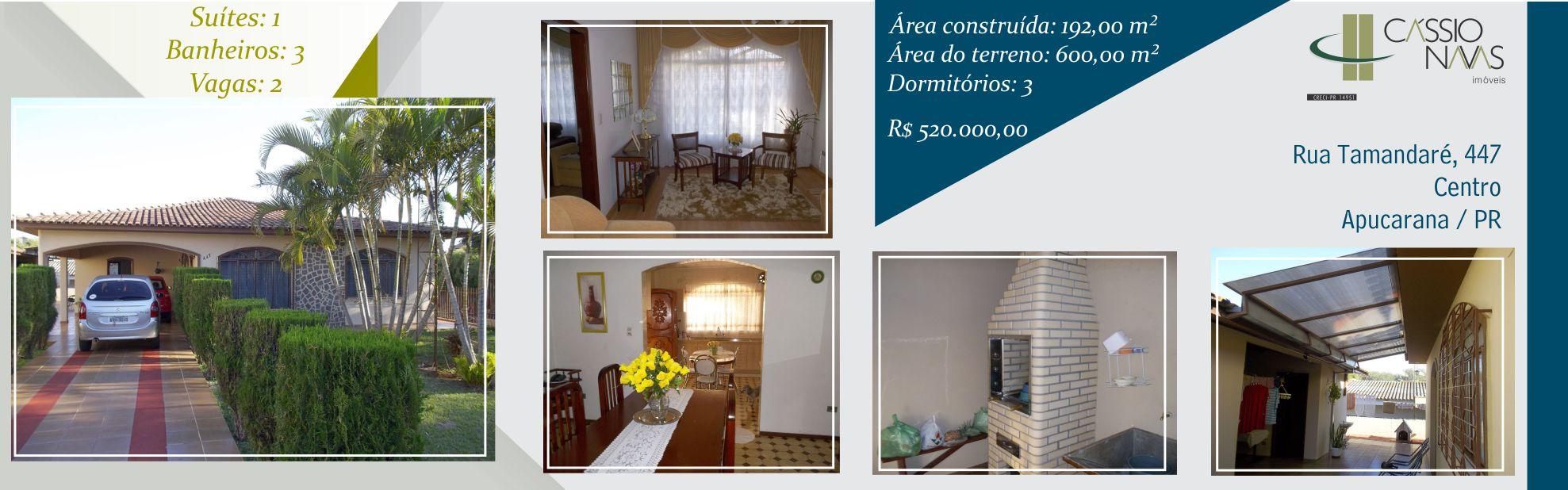 Residência Rua Tamandaré nº 447