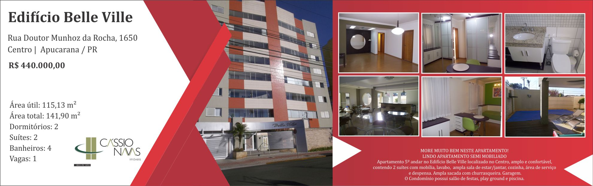 Lindo Apartamento Edifício Belle Vile